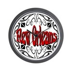 New Orleans Wrought Iron Design Wall Clock