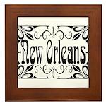 New Orleans Wrought Iron Design Framed Tile