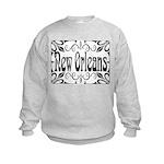 New Orleans Wrought Iron Design Kids Sweatshirt