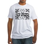 New Orleans Wrought Iron Design Fitted T-Shirt