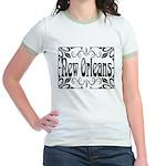 New Orleans Wrought Iron Design Jr. Ringer T-Shirt