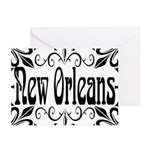 New Orleans Wrought Iron Design Greeting Cards (Pk