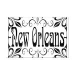 New Orleans Wrought Iron Design Mini Poster Print