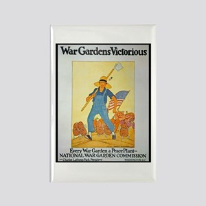 War Gardens Victorious Rectangle Magnet