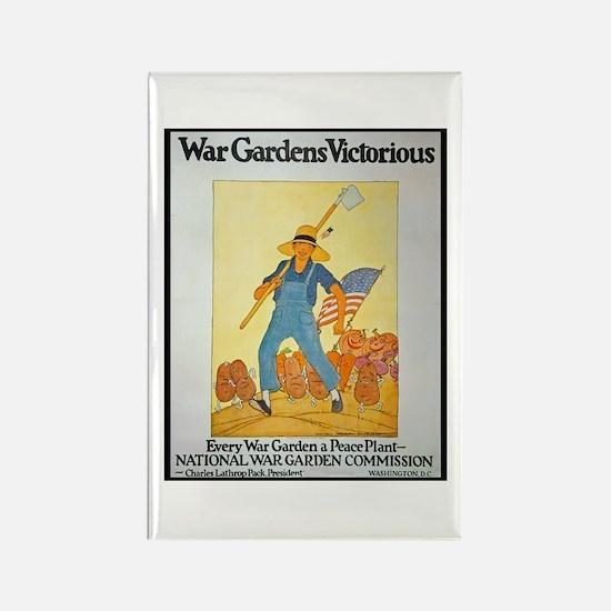 War Gardens Victorious Rectangle Magnet