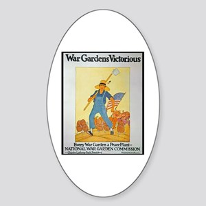 War Gardens Victorious Oval Sticker