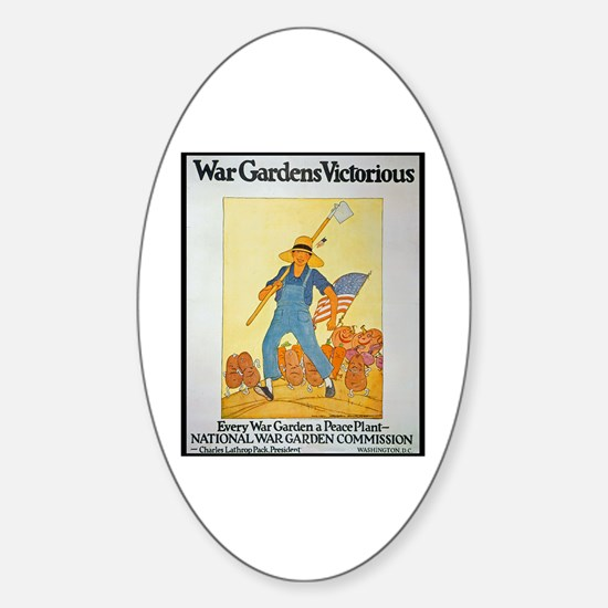 War Gardens Victorious Oval Decal