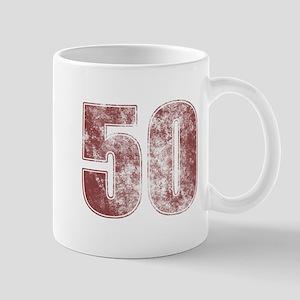 50th Birthday Red Grunge Mug