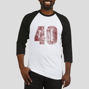40th Birthday Red Grunge Baseball Jersey