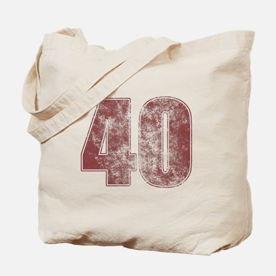 40th Birthday Red Grunge Tote Bag