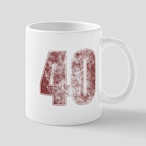 40th Birthday Red Grunge Mug