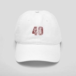40th Birthday Red Grunge Cap
