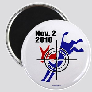 """Donkey in Crosshairs 2.25"""" Magnet (10 pack)"""