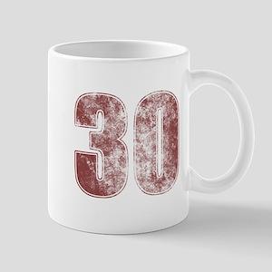 30th Birthday Red Grunge Mug