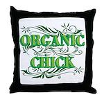 Organic Chick Throw Pillow