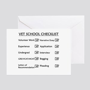 Vet School Checklist Greeting Card