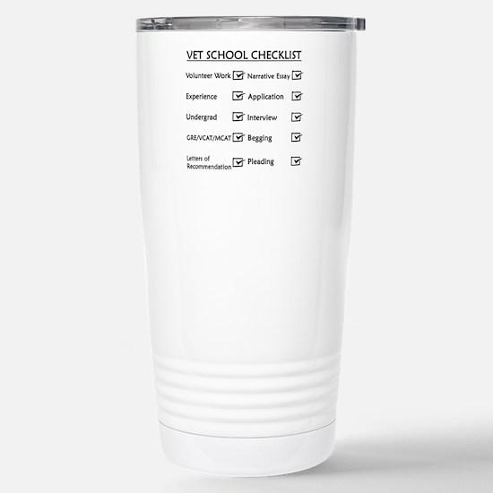 Vet School Checklist Stainless Steel Travel Mug