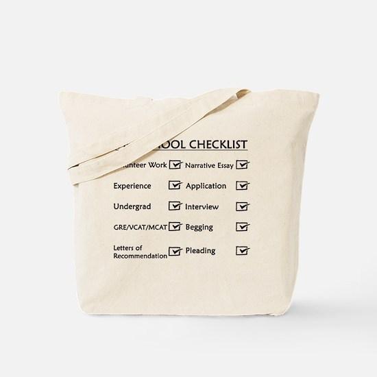 Vet School Checklist Tote Bag