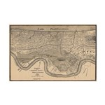 Map 1849 New Orleans Flood Print