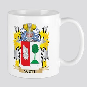 Scotti Family Crest - Coat of Arms Mugs