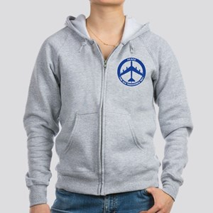 B-52G Peace Sign Women's Zip Hoodie