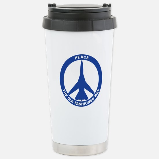 FB-111A Peace Sign Stainless Steel Travel Mug