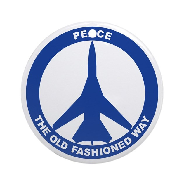 Fb 111a Peace Sign Ornament Round By Aceapparel