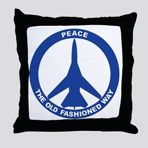 FB-111A Peace Sign Throw Pillow