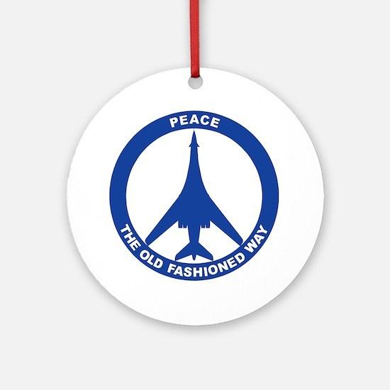 B-1B Peace Sign Ornament (Round)