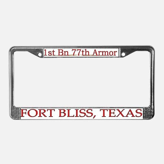 1st Bn 77th AR License Plate Frame