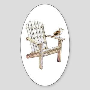 Adirondack Chair Oval Sticker