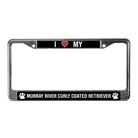 Murray River Curly Coated Retriever License Plate