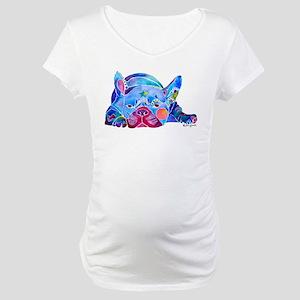 French Bulldog Frenchies Maternity T-Shirt