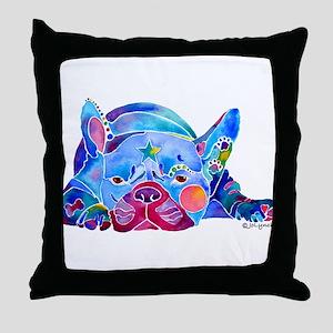 French Bulldog Frenchies Throw Pillow