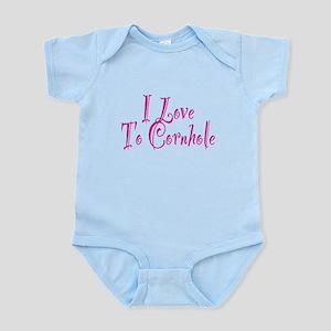 I Love To Cornhole Infant Bodysuit