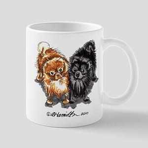 Black Red Pomeranian Mug