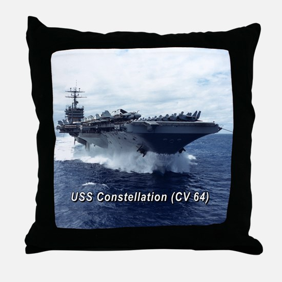 USS Constellation (CV 64) Throw Pillow