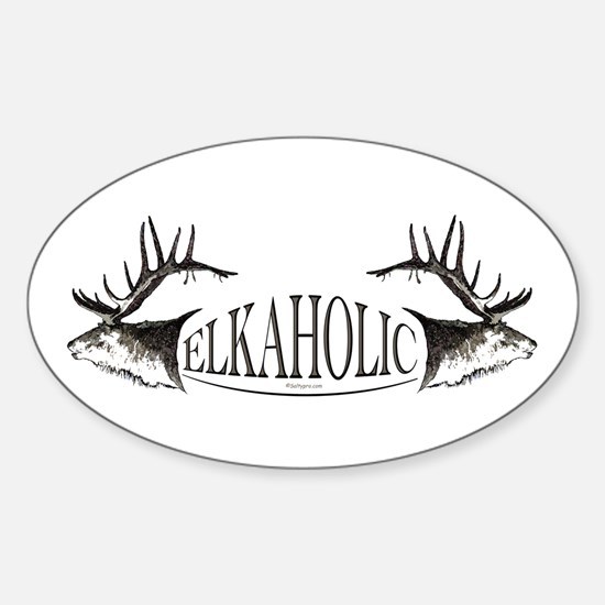 Elkoholic Sticker (Oval)