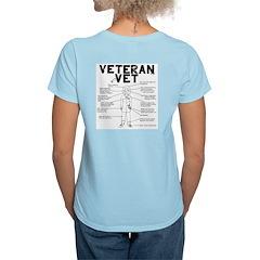 Veteran Vet Female Women's Light T-Shirt