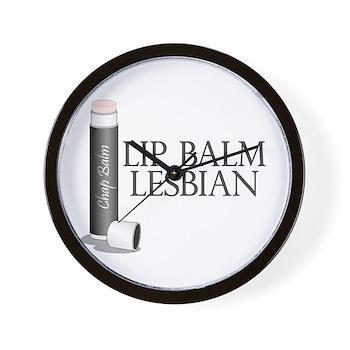 Lip Balm Lesbian Wall Clock