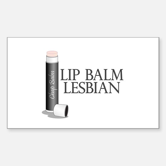 Lip Balm Lesbian Sticker (Rectangle)
