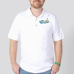 Ocracoke Island - Surf Design Golf Shirt