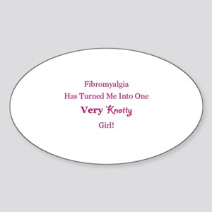 Knotty Girl Sticker (Oval)