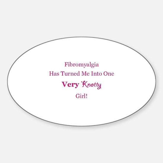 Knotty Girl Sticker (Oval)