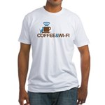 Coffee & Wi-Fi Fitted T-Shirt