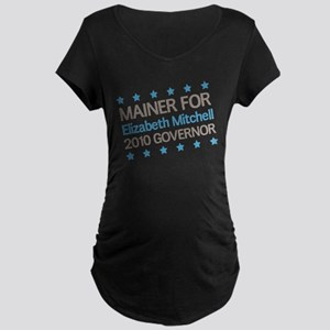 Mainer for Mitchell Maternity Dark T-Shirt