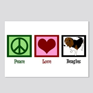Peace Love Beagles Postcards (Package of 8)