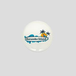 Ocracoke Island - Surf Design Mini Button