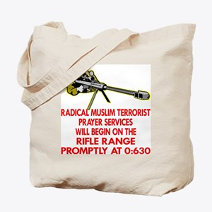 Terrorist Prayer Services Tote Bag