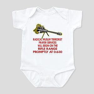 Terrorist Prayer Services Infant Bodysuit